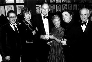 Steven Levy, Chase Mishkin, Leonard Soloway, Jane Powel, Nathan Lane and Dick Moore