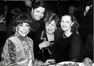 Debbie Channing, Nathan Lane, Chase Mishkin and Dana Ivey