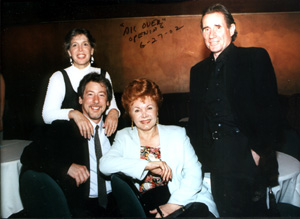 Julie Dale, Michael Pavin, Chase Mishkin and Jim Dale